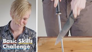 50 People Try to Sharpen a Knife | Epicurious