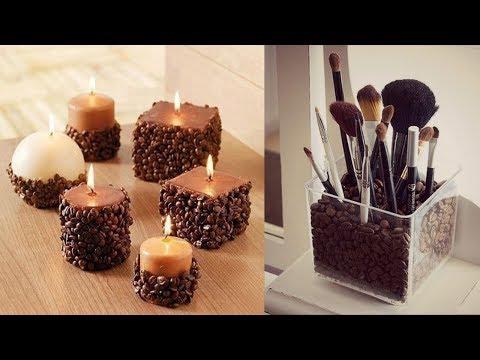 Creative Coffee Bean Crafts Decoration Ideas