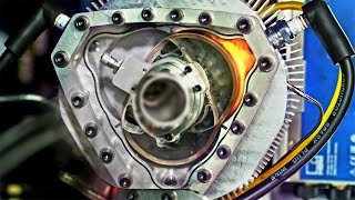 See Thru Liquid Piston Rotary Engine - In Slow Motion