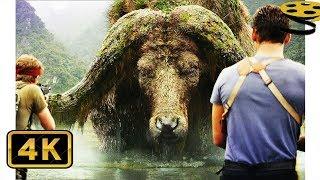 Сцена с Огромным Буйволом. Солдаты против огромного Паука | Конг: Остров черепа | 4K ULTRA HD