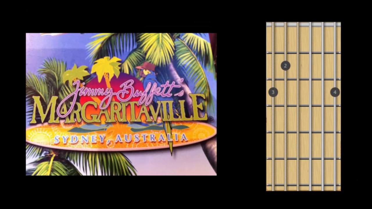 Margaritaville Jimmy Buffet Guitar Chords Tabs Youtube