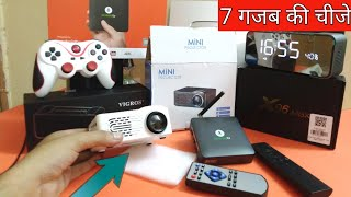 Projector , Andriod TV box, Gamepad, Pubg Trigger , Top Favourite Gadgets