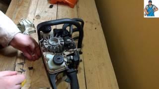 Ремонт стартера бензопили STIHL MS 180 remontpil com