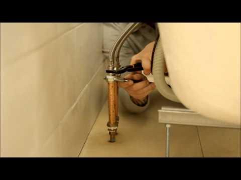 Fitting a Bristan Easyfit Bath Mixer Tap - YouTube