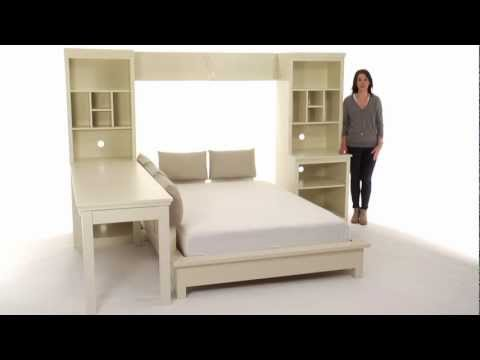 Choose this Platform Bed Set for Stylish Storage | PBteen