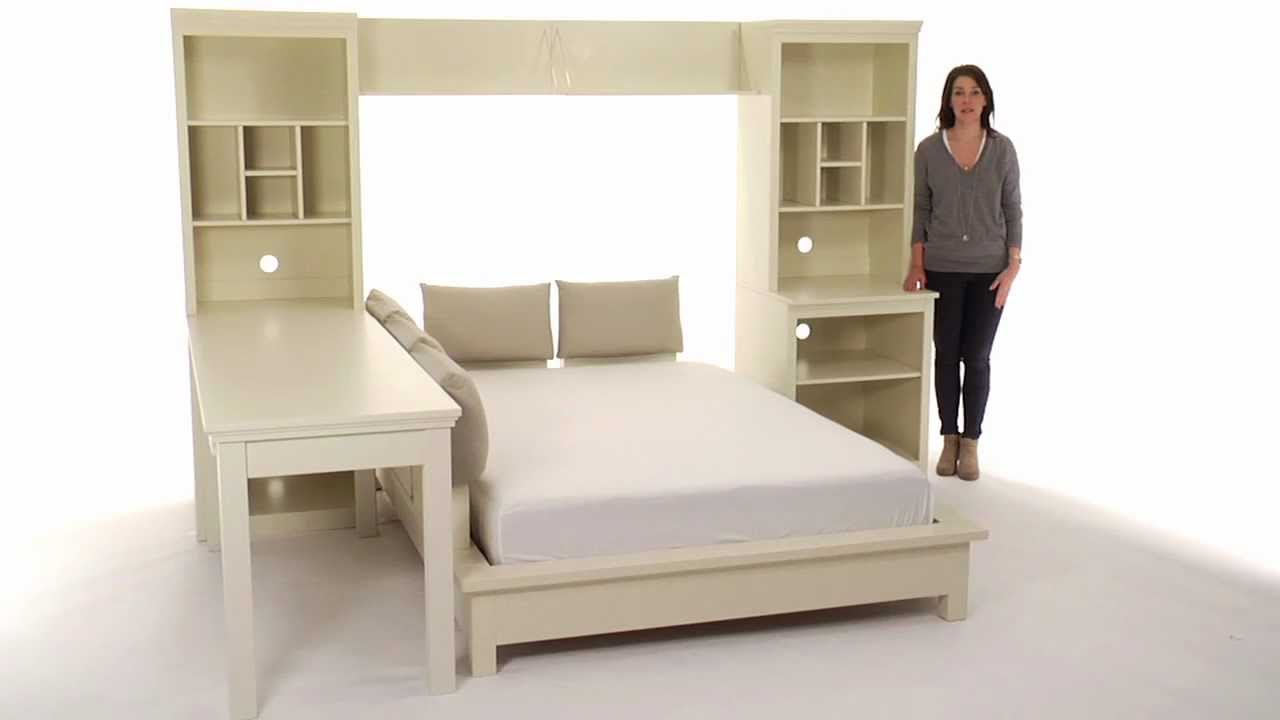 Choose this platform bed set for stylish storage pbteen for Teen bedroom storage