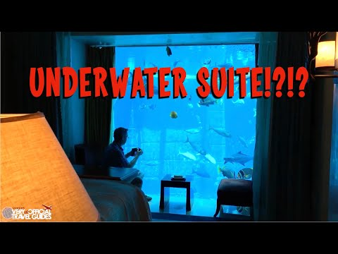 Insane UNDERWATER Hotel Suite - Atlantis Dubai