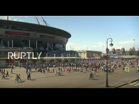 LIVE: Fans flood Zenit Arena ahead of Confederations Cup opening match