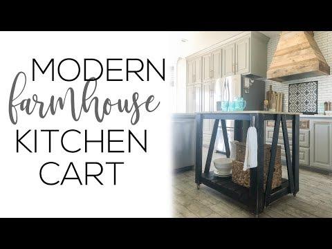 DIY Modern Farmhouse Kitchen Island Cart