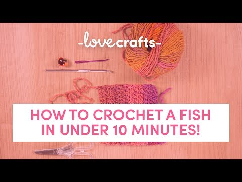 How To Crochet | A Fish In Under 10 Minutes!