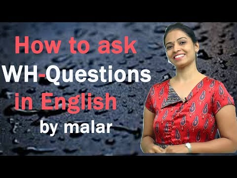 "Learn English with Kaizen through Tamil - How to ask ""wh"" Questions in English"