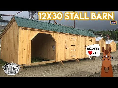 """the-12x30-stall-barn""---horse-&-livestock-building---sold-in-4-sizes-+-diy-plans"