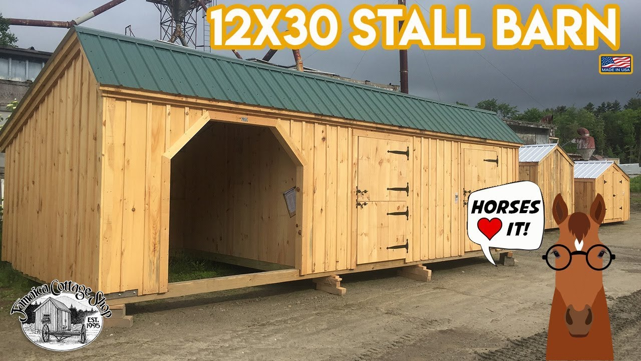 12x30 Horse Stall Barn Livestock Building 2 In 1 Combo Pre Cut Kits Or Fully Embled