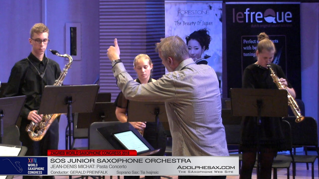 Pasta Concerto by Jean Denis Michat    SOS Junior Orchestra   XVIII World Sax Congress 2018 #adolphe