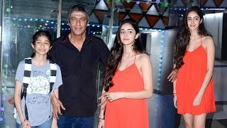 Chunky Pandey With Daughter Ananya Pandey Who Will Soon Make Bollywood Debut