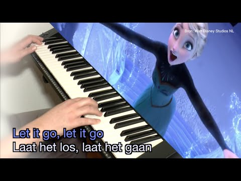 "Disney's Frozen ""Let It Go"" / ""Laat Het Los"" KARAOKE + lyrics (ENG / NL )"