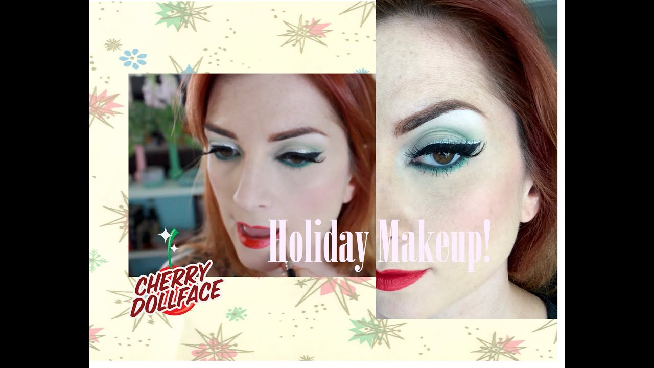 Green and silver christmas holiday vintage makeup tutorial by green and silver christmas holiday vintage makeup tutorial by cherry dollface baditri Gallery