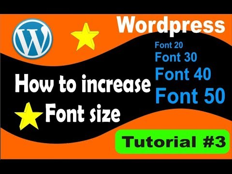 How to increase Font Size in wordpress site-- Simplified in Hindi-- - 동영상