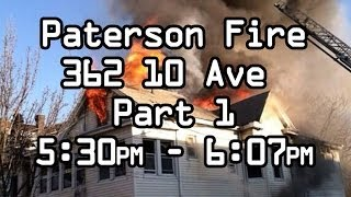 Paterson Fire 486 East 23rd Street Dispatch AUDIO Part 1, Mayday