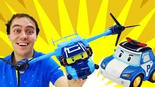 Робокар Поли покупает самолет трансформе...