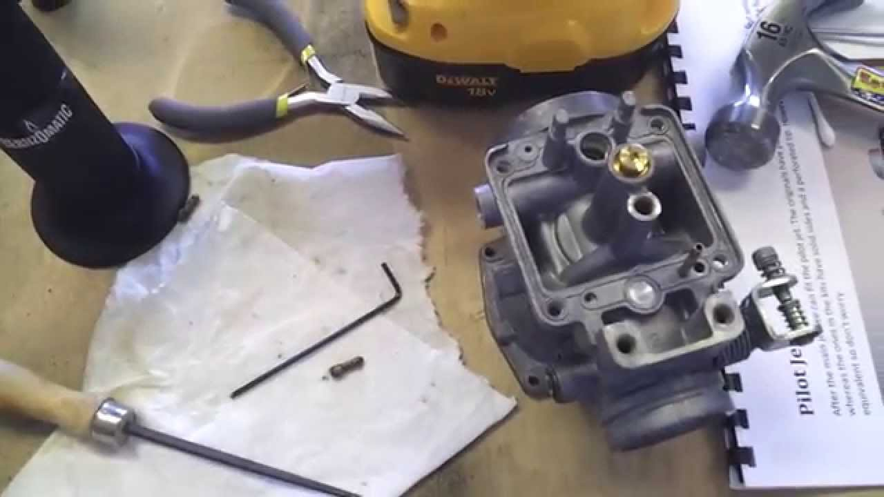Yamaha Banshee 350 Wiring Diagram An Easy Way To Remove Stripped Pilot Jets Youtube