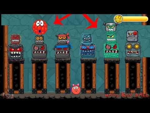 All 6 BOSS battles with  Red Bilberry  in Red Ball 4  Update