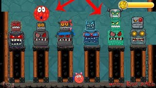 """All 6 boss battles with """" red bilberry """" in red ball 4  update"""