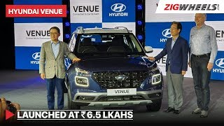 Hyundai Venue 2019 Launched | Price in India vs XUV300, Brezza | ZigWheels.com