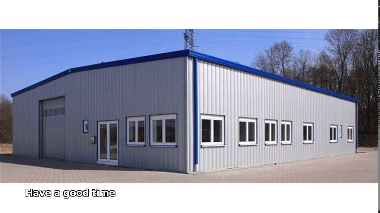 Commercial Steel Garages With An Overhand : Commercial steel buildings youtube