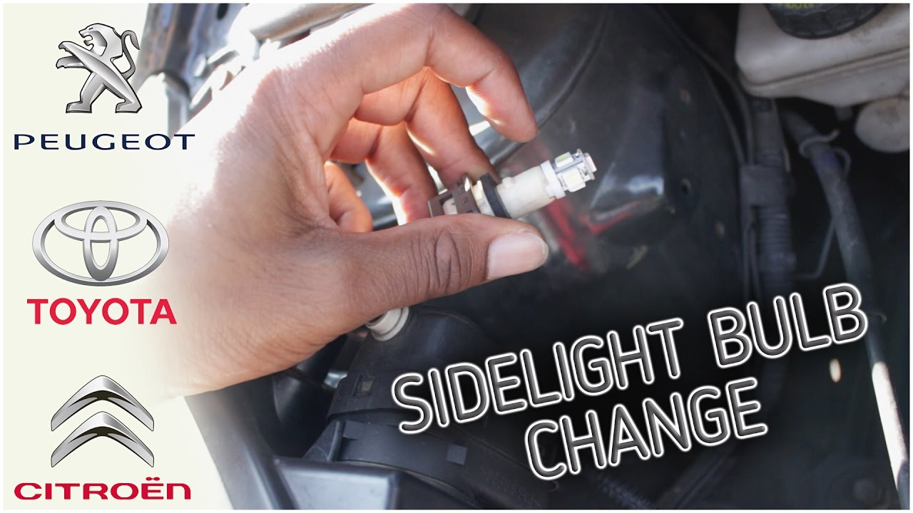 Peugeot 107 Toyota Aygo Citroen C1 Sidelight Bulb Change To Led Youtube