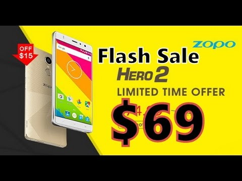 ZOPO Hero 2 Flash Sale $69 dollars Promotion/Voucher/Coupon on Gearbest (August/2016)