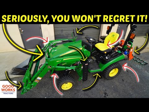 TOP 10 REASONS TO BUY A TINY TRACTOR! JOHN DEERE 1025R! 👨🌾🚜