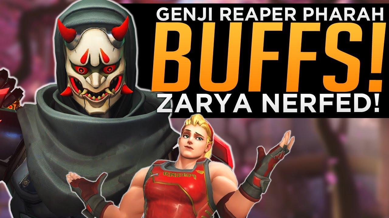 Overwatch: Genji Pharah & Reaper BUFFED! - Zarya NERFED!