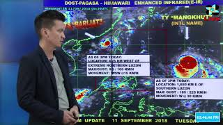 Pagasa: Typhoon Mangkhut to enter PAR Wednesday afternoon