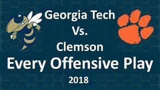 Georgia Tech Vs Clemson 2018 Every Offensive Play