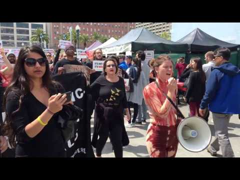 Animal Rights Activists March at Goatchella
