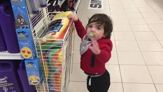 Happy Toddler Runs Loose in Canadian Tire Store!
