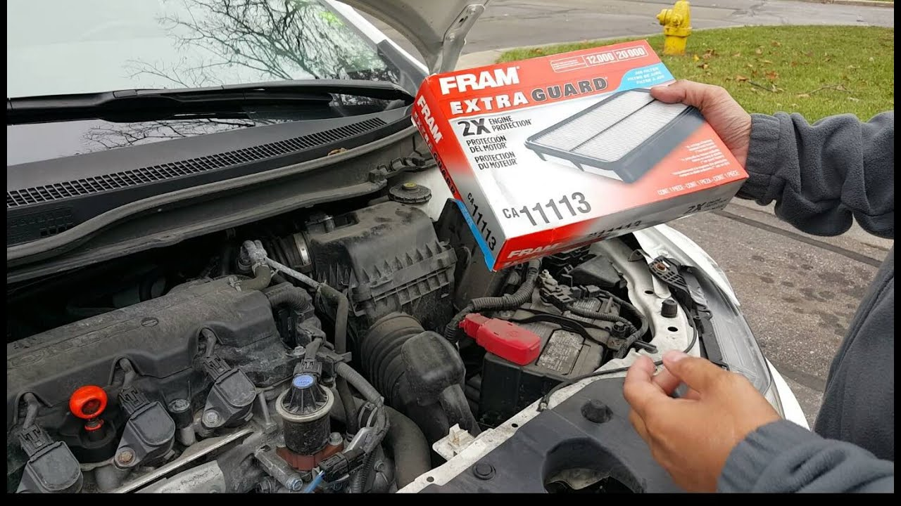 How To Change Engine Filter Honda Civic 2013 Ex Lx How