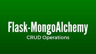MongoDB CRUD Operations (Create, Read, Update, Delete) in Flask
