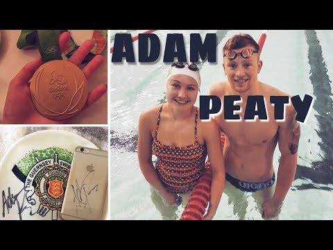 Swimming with Adam Peaty (Olympic Champion + WR Holder) || Aimée Bran