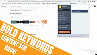 Extract ALL Bold Keywords from Google SERP With This SEO Content Expansion Hack | FatRank Explains