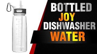 BOTTLED JOY Dishwasher Safe Water Bottle with Straw/Flip Top and Handle - 100% BPA-Free Tritan