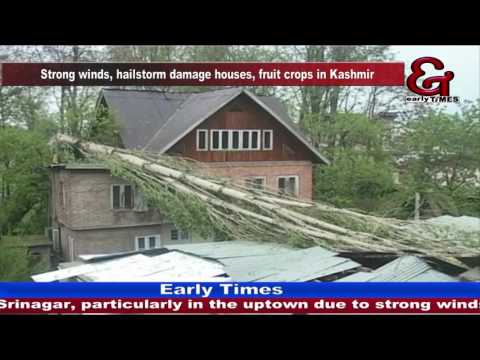 Strong winds, hailstorm damage houses, fruit crops in Kashmir