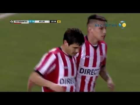 Estudiantes goleó a Atlas y se metió en los 16vos de final de la Copa