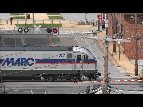 MARC Passenger Train In Baltimore City, Maryland