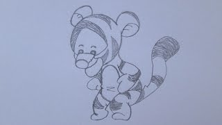 How to draw Tigger from Winnie the Pooh