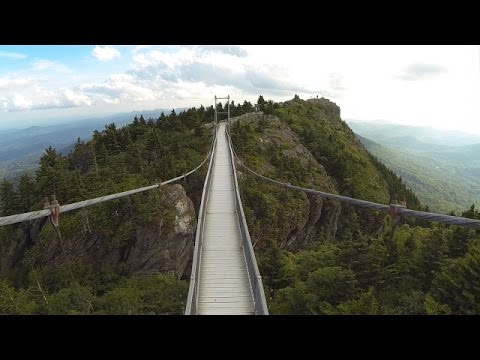 Grandfather Mountain Mile High Swinging Bridge Aerial Views