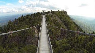 Grandfather Mountain Mile High Swinging Bridge Aerial Views