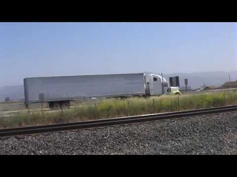 Trucks And Few Trains - Central California - USA - 2013