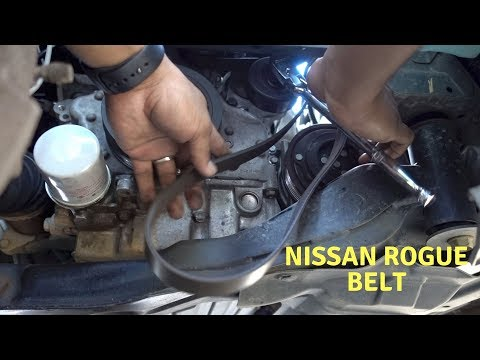 How To 2008 to 2013 Nissan Rogue Serpentine Belt Replacement